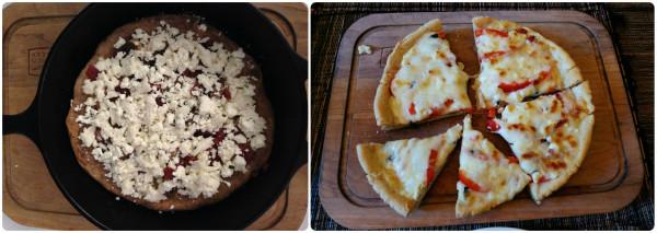 最近愛上用鑄鐵鍋烤披薩,烤出來的披薩又香又脆,比用一般烤盤烤出來的還要酥脆許多!