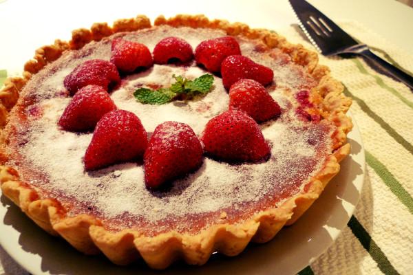 法式堅果藍莓塔