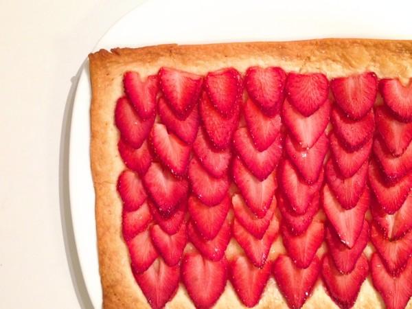 草莓酥皮塔